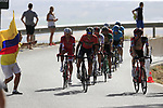 Riders including Vincenzo Nibali (ITA) Bahrain-Merida on the slopes of Sierra de la Alfaguara  during Stage 4 of the La Vuelta 2018, running 162km from Velez-Malaga to Alfacar, Sierra de la Alfaguara, Andalucia, Spain. 28th August 2018.<br /> Picture: Eoin Clarke   Cyclefile<br /> <br /> <br /> All photos usage must carry mandatory copyright credit (&copy; Cyclefile   Eoin Clarke)