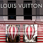LV Hot Air Balloons 03 - Louis Vuitton shopfront display window, King Street, Perth, Western Australia.