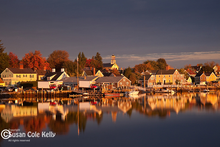 Autumn sunrise on the Piscataqua River in Portsmouth, NH, USA