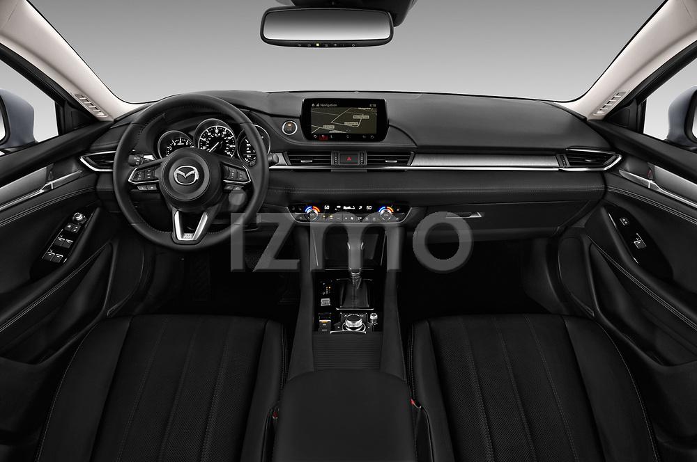 Stock photo of straight dashboard view of a 2018 Mazda Mazda6 Grand Touring Reserve 4 Door Sedan