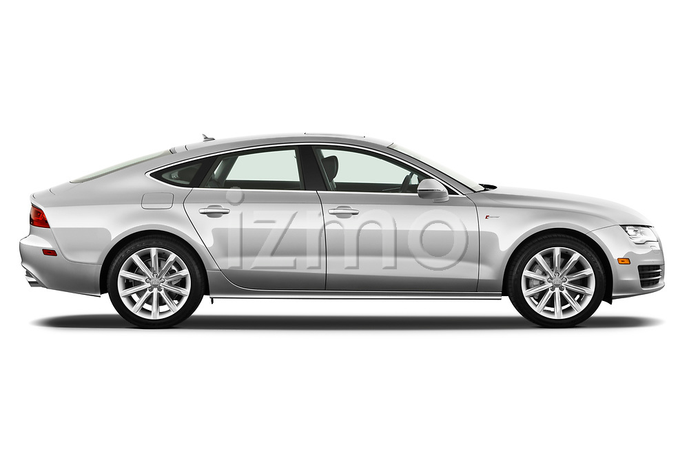 Car driver side profile view of a 2012 Audi A7 Sportback 4 Door Hatchback