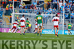 Kerry in action against  Derry in the All-Ireland Minor Footballl Final in Croke Park on Sunday.
