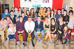 Gavin O'Leary, Knocklebede, Kilcummin, pictured with some of his family and friends as he celebrated his 21st birthday in the Klub Bar, Kilcummin on Saturday night. ................................................