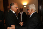 Palestinian President Mahmoud Abbas (Abu Mazen) during a meeting with Minister for Foreign Affairs of Argentina, In Brasilia on January 2, 2011. Photo by Thaer Ganaim