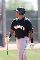 Chris Dominguez, San Francisco Giants minor league spring training..Photo by:  Bill Mitchell/Four Seam Images.