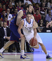 14.06.2013 Bacelona, Spain. Liga Endesa Play Off titulo. Picture show Carroll in action during game betwen FC BArcelona v Real Madrid at Palau Blaugrana