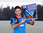 Harry Forrester promoting the game on Sunday