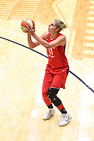 Washington, DC - September 2 2018: Washington Mystics forward Elena Delle Donne (11) connects on a wide open shot during semifinals game against Atlanta Dream. Mystics even the series and force a deciding game 5 in Atlanta with a 97-76 win at the Charles Smith Center at George Washington University in Washington, DC. (Photo by Phil Peters/Media Images International)
