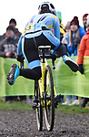 London UK 13th January 2019 British Cyclo Cross National Championships at Cyclo Park Gravesend Kent UK Action during the Elite Womens Race