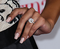 "HOLLYWOOD, CA - OCTOBER 03: Actress Naya Rivera shows off engagement ring (Engaged to Big Sean) at Latina Magazine's ""Hollywood Hot List"" Party held at The Redbury Hotel on October 3, 2013 in Hollywood, California. (Photo by Xavier Collin/Celebrity Monitor)"