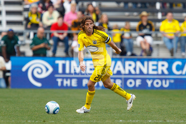 24 OCTOBER 2010:  Columbus Crew defender Frankie Hejduk (2) during MLS soccer game against the Philadelphia Union at Crew Stadium in Columbus, Ohio on August 28, 2010.
