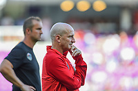 Orlando, FL - Saturday October 14, 2017: Paul Riley during the NWSL Championship match between the North Carolina Courage and the Portland Thorns FC at Orlando City Stadium.