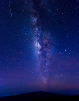 Milky Way, Meteor and ISS Over Mauna Loa, May 6, 2016: A meteor from the Eta Aquarids meteor shower and the International Space Station both seemingly pass through the Milky Way as the galaxy rises over Mauna Loa, Big Island of Hawai'i.