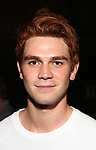 "KJ Apa from the cast of ""Riverdale"" visits Broadway's ""Bandstand"" at the Bernard Jacobs Theate on May 19, 2017 in New York City."