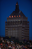 The Kodak building. The Western New York Flash defeated Sky Blue FC 2-0 during a National Women's Soccer League (NWSL) semifinal match at Sahlen's Stadium in Rochester, NY, on August 24, 2013.