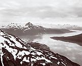 USA, Alaska, a high alpine lake in the Chugach Mountains, Chugach National Park