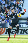 Goalkeeper Ivan Cuellar Sacristan of CD Leganes reaches for the ball after an attempt at goal by FC Barcelona during the La Liga 2017-18 match between CD Leganes vs FC Barcelona at Estadio Municipal Butarque on November 18 2017 in Leganes, Spain. Photo by Diego Gonzalez / Power Sport Images