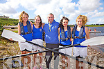 The Caherdaniel U16 Girls crew who won at the Waterville regatta on Sunday were l-r; Megan O'Leary, Róisín Galvin, Noel Donnelly(Cox), Grace Turner & Lea Turner.  Sneem finished in 2nd with Sive in 3rd.