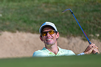 Dylan Frittelli (RSA) watches his shot from the trap on 11  during Round 1 of the Valero Texas Open, AT&amp;T Oaks Course, TPC San Antonio, San Antonio, Texas, USA. 4/19/2018.<br /> Picture: Golffile | Ken Murray<br /> <br /> <br /> All photo usage must carry mandatory copyright credit (&copy; Golffile | Ken Murray)