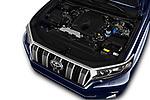 Car stock 2018 Toyota Landcruiser Premium 5 Door SUV engine high angle detail view