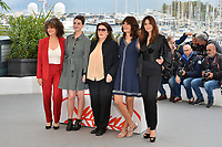 "CANNES, FRANCE. May 19, 2019: Souad Amidou, Tess Lauvergne, Anouk Aimee, Marianne Denicourt & Monica Bellucci at the photocall for ""The Most Beautiful Years of a Life"" at the 72nd Festival de Cannes.<br /> Picture: Paul Smith / Featureflash"