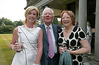 22/6/10 Moya Doherty with Gay Byrne and his wife Kathleen at the British Amabassador's residence at Glencairn House in Sandyford, Dublin. Arthur Carron/Collins