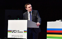 Picture by Simon Wilkinson/SWpix.com - 28/09/2018 Cycling 2018 UCI Road World Championships, Innsbruck-Tirol, Austria - UCI Congress at Innsbruck - David Lappartient UCI President