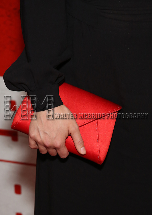 Olivia Wilde, purse detail, attends the Broadway Opening Night Party for George Orwell's '1984' at The Lighthouse Pier 61 on June 22, 2017 in New York City.