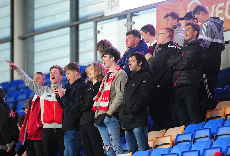 Fleetwood Town fans enjoy the pre-match buildup<br /> <br /> Photographer Kevin Barnes/CameraSport<br /> <br /> The Emirates FA Cup Second Round - Shrewsbury Town v Fleetwood Town - Saturday 3rd December 2016 - Greenhous Meadow - Shrewsbury <br />  <br /> World Copyright &copy; 2016 CameraSport. All rights reserved. 43 Linden Ave. Countesthorpe. Leicester. England. LE8 5PG - Tel: +44 (0) 116 277 4147 - admin@camerasport.com - www.camerasport.com