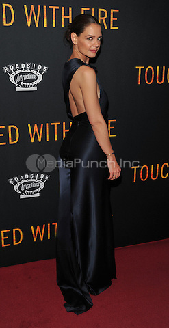 New York,NY-FEBRUARY 10: Katie Holmes attend the 'Touched With Fire' New York premiere at Walter Reade Theater on February 10, 2016 in New York City. Credit: John Palmer/MediaPunch