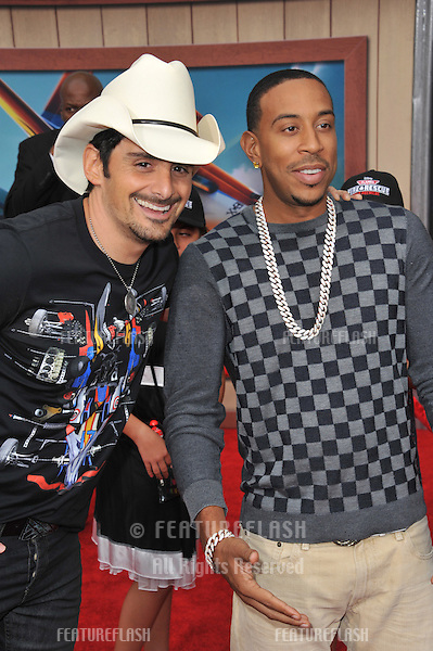 Brad Paisley &amp; Chris &quot;Ludacris&quot; Bridges (right) at the world premiere of Disney's &quot;Planes: Fire &amp; Rescue&quot; at the El Capitan Theatre, Hollywood.<br /> July 15, 2014  Los Angeles, CA<br /> Picture: Paul Smith / Featureflash