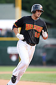 August 12 2008:  Sergio Santos (19) of the Rochester Red Wings, Class-AAA affiliate of the Minnesota Twins, during a game at Frontier Field in Rochester, NY.  Photo by:  Mike Janes/Four Seam Images