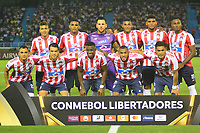 BARRANQUILLA - COLOMBIA ,08-05-2019: Formación del Atlético Junior  de Colombia ante  el  Melgar del Perú partido por la  Copa CONMEBOL Libertadores 2019 jugado en el estadio Metropolitano Roberto Meléndez de la ciudad de Barranquilla . / Team of  Atlético Junior of Colombia  agaisnt of Melgar of Peru match for  the Copa CONMEBOL Libertadores 2019 played at the Metropolitan Stadium Roberto Meléndez from the city of Barranquilla . Photo: VizzorImage / Alfonso Cervantes / Contribuidor.