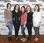 Elvy Yost, Brenda Wehle, Leah Karpel, Jessica Dickey, and Crystal Finn. attends the 'Pocatello' Meet & Greet at Playwrights Horizons on October 21, 2014 in New York City.