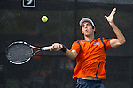 April 23, 2015; San Diego, CA, USA; Pepperdine Waves tennis player Pedro Iamachkine during the WCC Tennis Championships at Barnes Tennis Center.