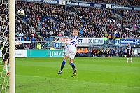 VOETBAL: HEERENVEEN: Abe Lenstra Stadion, SC Heerenveen - Vitesse, 21-01-2012, Eindstand 1-1, kopbal Bas Dost (#12), ©foto Martin de Jong
