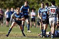 Manson Lund of Nelson College, during the 1st XV South Island Final rugby match between Otago Boys High School 1st XV and Nelson College 1st XV at Littlebourne in Dunedin, New Zealand on Saturday, 31 August 2019. Photo: Joe Allison / lintottphoto.co.nz