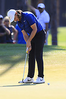 Tommy Fleetwood (ENG) putts on the 9th green during Sunday's Final Round of the 2018 Turkish Airlines Open hosted by Regnum Carya Golf &amp; Spa Resort, Antalya, Turkey. 4th November 2018.<br /> Picture: Eoin Clarke | Golffile<br /> <br /> <br /> All photos usage must carry mandatory copyright credit (&copy; Golffile | Eoin Clarke)