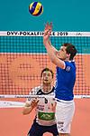 24.02.2019, SAP Arena, Mannheim<br /> Volleyball, DVV-Pokal Finale, VfB Friedrichshafen vs. SVG LŸneburg / Lueneburg<br /> <br /> Zuspiel Jakub Janouch (#8 Friedrichshafen)<br /> <br />   Foto © nordphoto / Kurth