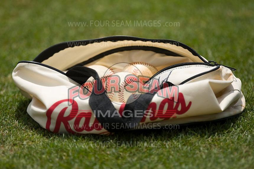 A bag of Rawlings baseballs at NewBridge Bank Park June 20, 2009 in Greensboro, North Carolina. (Photo by Brian Westerholt / Four Seam Images)