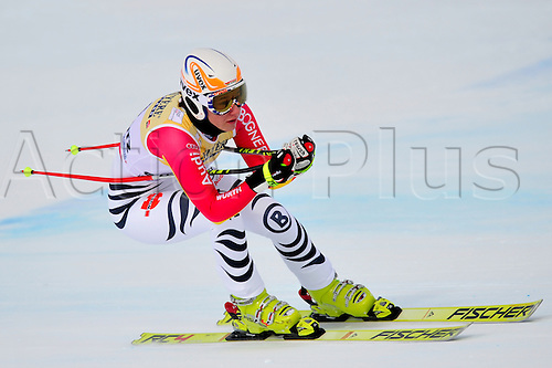 January 30, 2010: Katharina Duerr of Germany during the downhill portion of the Women's FIS Ski World Cup race in St. Moritz, Switzerland.  Photo: CalSports/Actionplus - Editorial Use....
