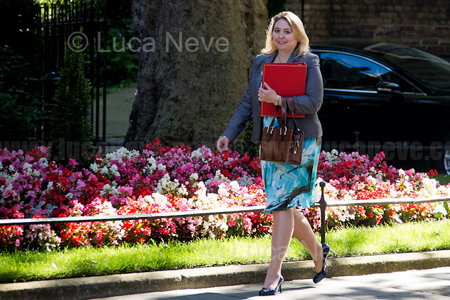 Karen Bradley MP (Secretary of State for Culture, Media and Sport).<br /> <br /> London, 19/07/2016. First Cabinet meeting at 10 Downing Street (after the EU Referendum and consequent David Cameron's resignation) for the new Prime Minister Theresa May and her newly formed Conservative Government.<br /> <br /> For more information about the Cabinet Ministers: https://www.gov.uk/government/ministers