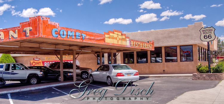 Comet Drive in on Historic Route 66 in Santa Rosa, New Mexico.