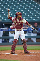 Gian Martellini (2) of the Boston College Eagles on defense against the North Carolina Tar Heels in Game Five of the 2017 ACC Baseball Championship at Louisville Slugger Field on May 25, 2017 in Louisville, Kentucky. The Tar Heels defeated the Eagles 10-0 in a game called after 7 innings by the Mercy Rule. (Brian Westerholt/Four Seam Images)