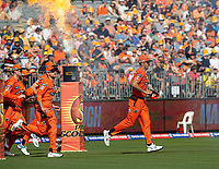 26th December 2019; Optus Stadium, Perth, Western Australia, Australia;  Big Bash League Cricket, Perth Scorchers versus Sydney Sixers; Mitch Marsh of the Perth Scorchers leads his team out onto the field for the start of the match against Sydney - Editorial Use