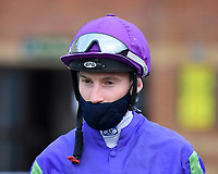 Jockey Daniel Muscutt during Horse Racing at Salisbury Racecourse on 11th September 2020