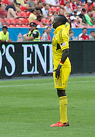 July 20, 2013: Columbus Crew foward/midfielder Dominic Oduro #11 salutes the Columbus Crew fans in attendance during a game between Toronto FC and the Columbus Crew at BMO Field in Toronto, Ontario Canada.<br /> Toronto FC won 2-1.