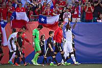 Photo before the match Chile vs Panama, Corresponding to Group -D- America Cup Centenary 2016 at Lincoln Financial Field.<br /> <br /> Foto previo al partido Chile vs Panama, Correspondiente al Grupo -D- de la Copa America Centenario 2016 en el  Lincoln Financial Field, en la foto: (i-d) Claudio Bravo de Chile y Adolfo Machado de Panama<br /> <br /> <br /> 14/06/2016/MEXSPORT/Javier Ramirez.
