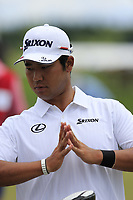 Hideki Matsuyama (JPN) waits to start his match during Sunday's Final Round of the 117th U.S. Open Championship 2017 held at Erin Hills, Erin, Wisconsin, USA. 18th June 2017.<br /> Picture: Eoin Clarke | Golffile<br /> <br /> <br /> All photos usage must carry mandatory copyright credit (&copy; Golffile | Eoin Clarke)
