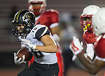Lawndale, CA 09/26/14 - Andrew Phillips (Peninsula #16) in action during the Palos Verdes Peninsula vs Lawndale CIF Varsity football game at Lawndale High School.  Lawndale defeated Peninsula 42-21